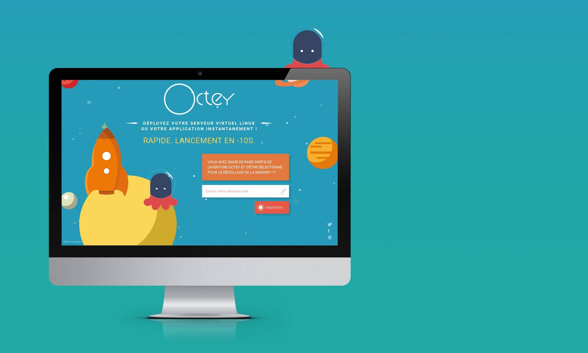 Studio NEKO - Landing page Octey.io - Screen 1